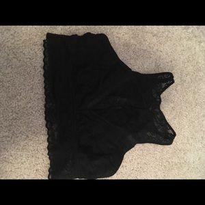 Black lace aerie bra size small